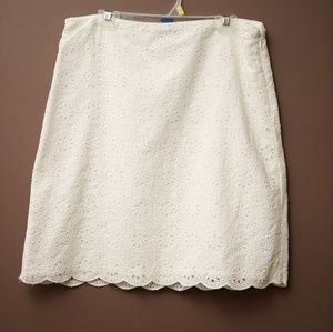 White lace skirt (with lining)